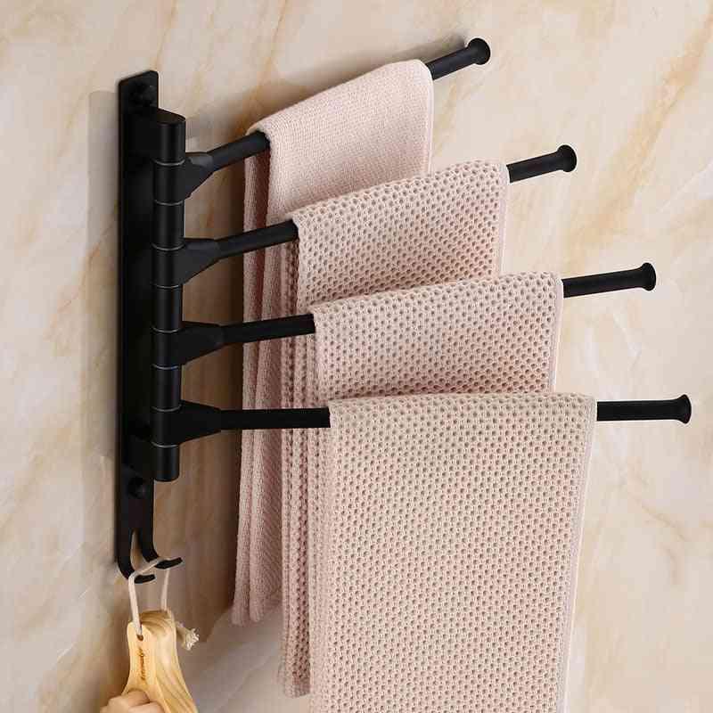 Aluminum Bathroom Rotating Rod Hotel Towel Bars Rack