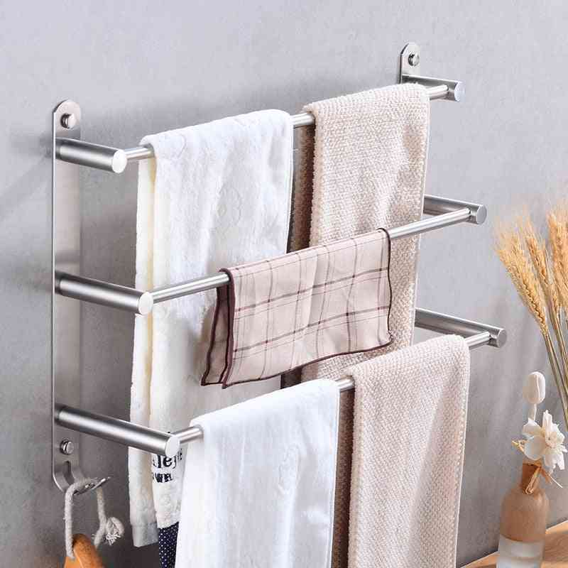 Stainless Steel Three Layer Towel Bar Holder