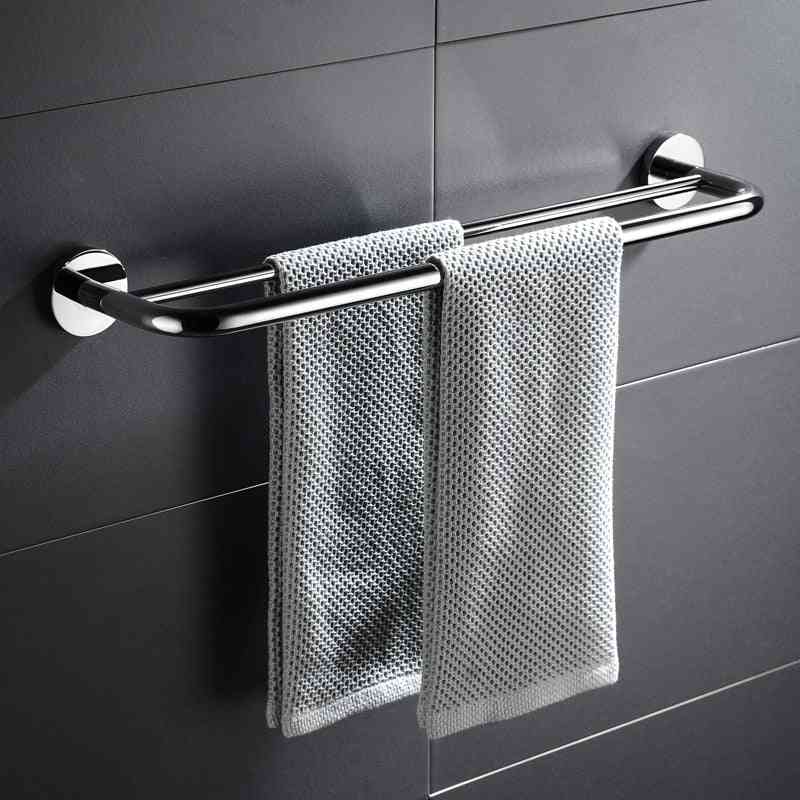 Wall Mounted, 304 Stainless Steel Double Towel Holder Bars
