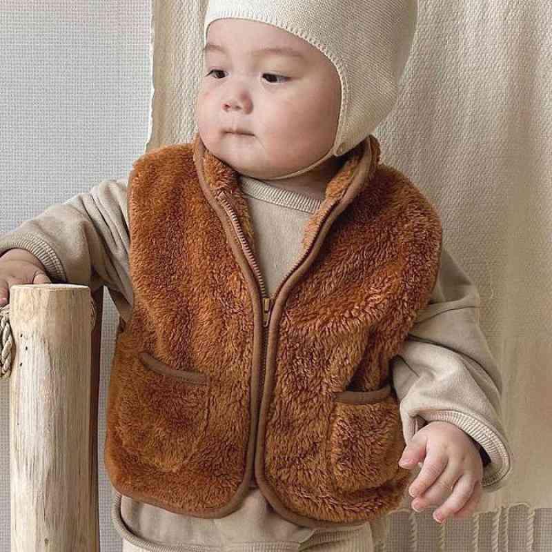 Autumn/winter Thick Fleece, Sleeveless Vest Jacket