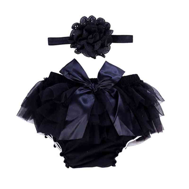 Baby Bloomers With Ruffles Cotton Diaper Cover Chiffon Shorts