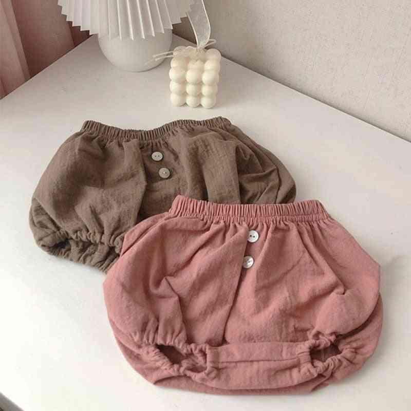 Cotton Linen  Harem Shorts For Newborn Baby