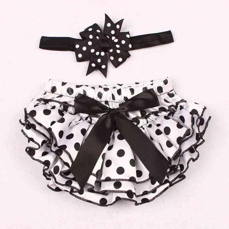 Baby Girl Princess Panties-nappy Cover Short Skirt With Headband Set