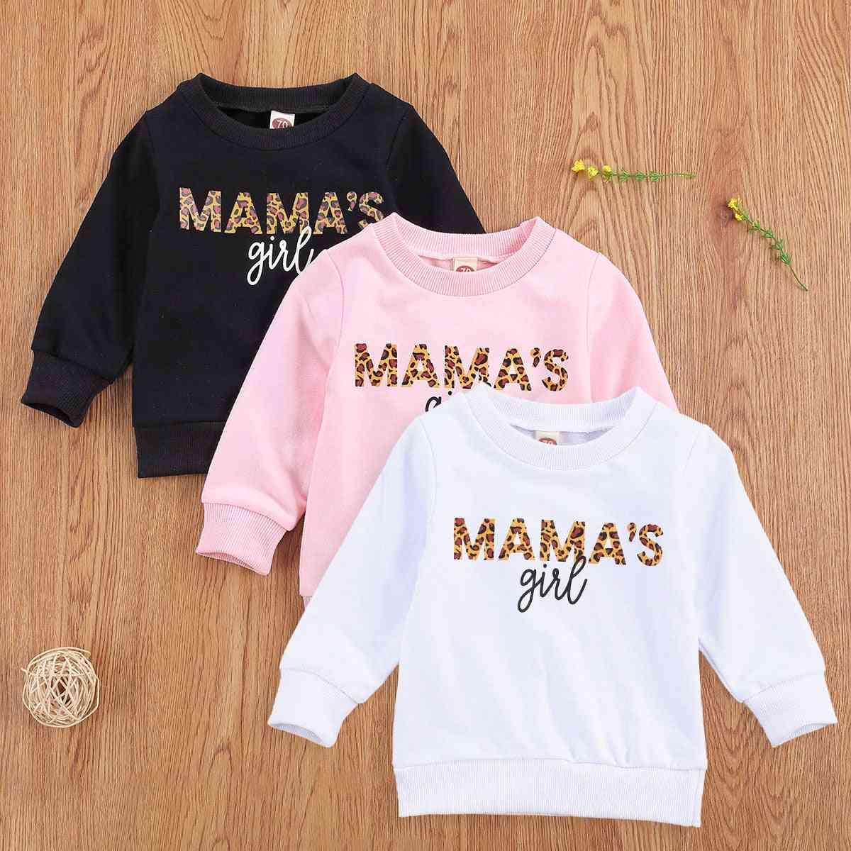 Mama's Girl Printed-casual Girl's Sweatshirts