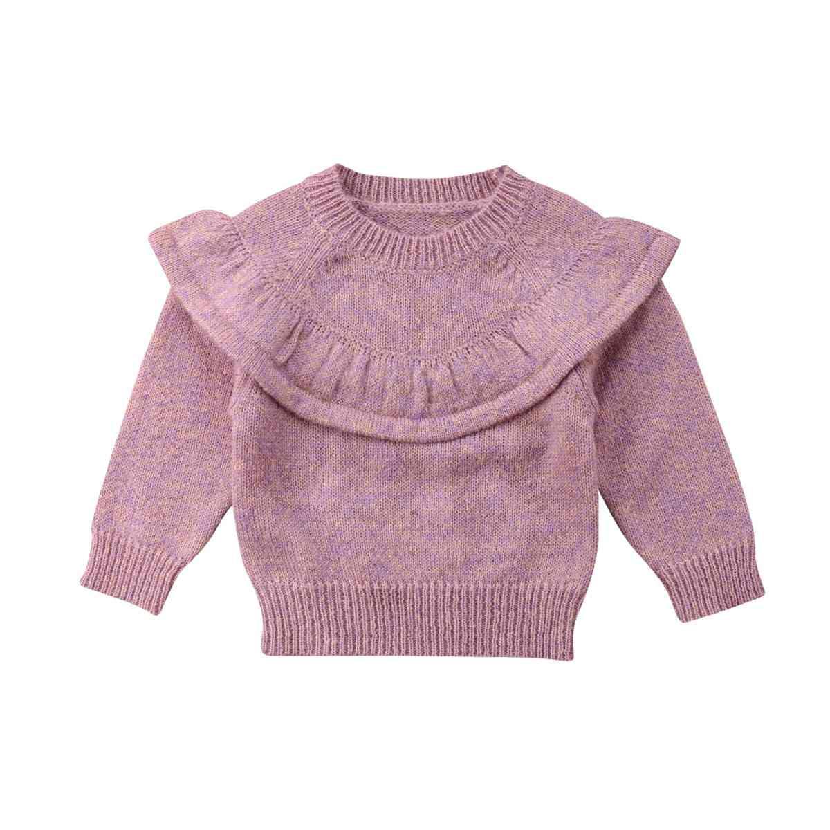 Autumn Winter Newborn Baby Girl Tops Ruffle Knitted Warm Sweater