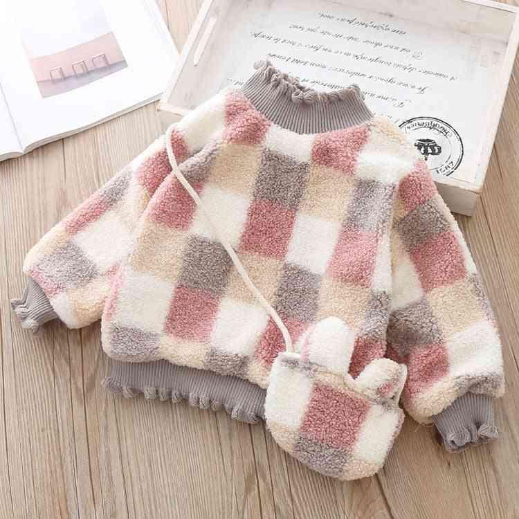 Check Pattern, Turtleneck Woolen Sweater