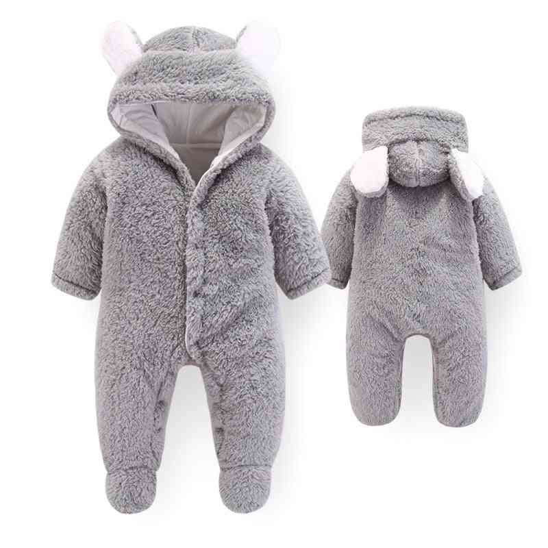 Winter Soft Fleece Jumpsuit - Outerwear Rompers Playsuit For Newborn Baby