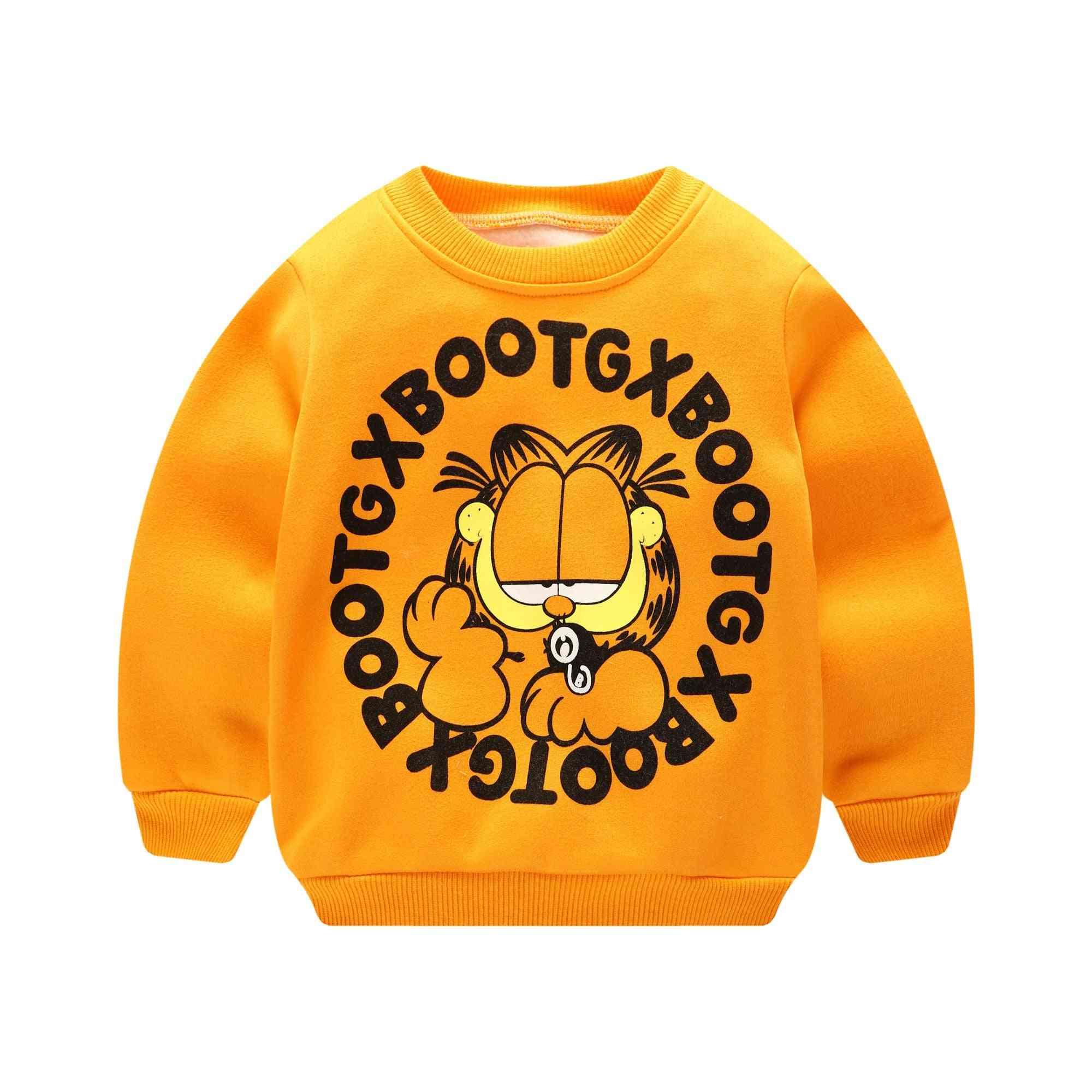 Long Sleeve  Cartoon Sweatshirt For Baby /
