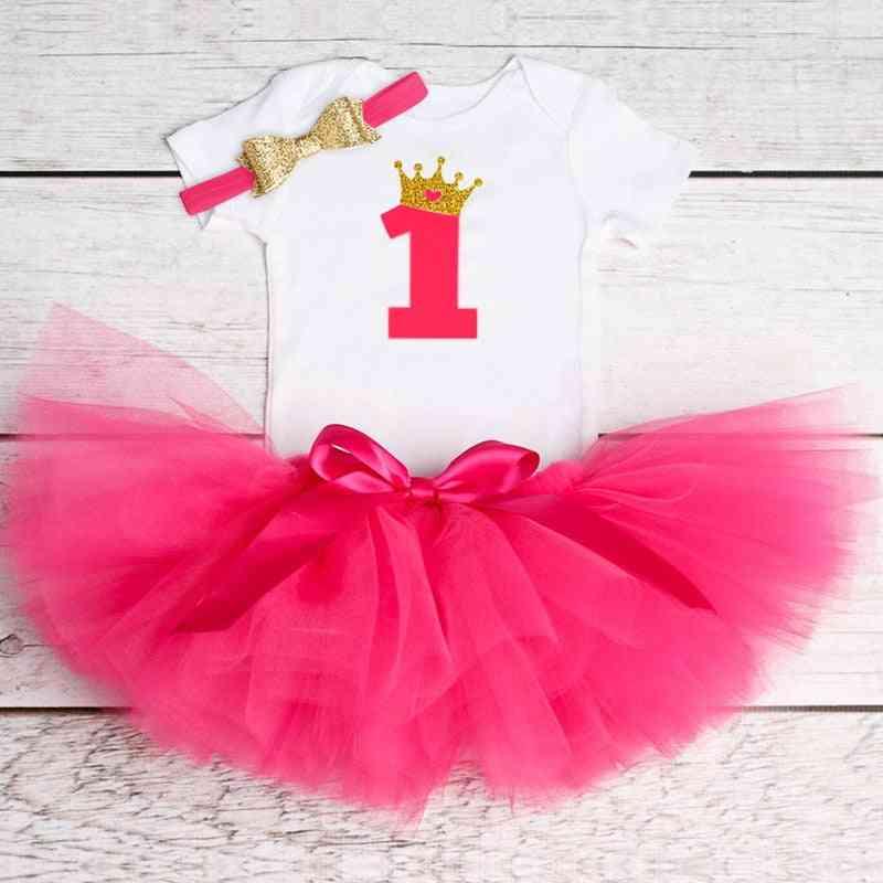 Fluffy Christening Gown For 1 Year Older Toddler Baby Girl
