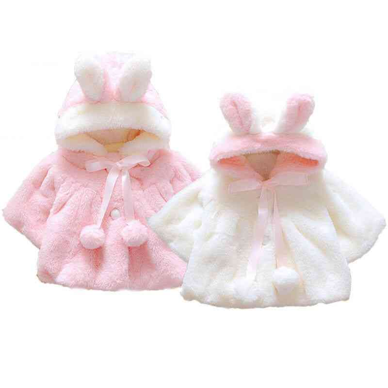 Rabbit Ears Design, Fur Warm Coat For Newborn Baby