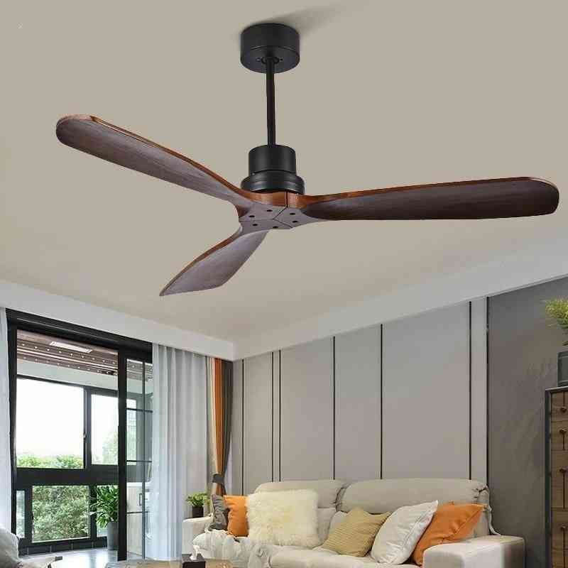 Wooden Ceiling Fans With Remote Control For Home/bedroom/living Room