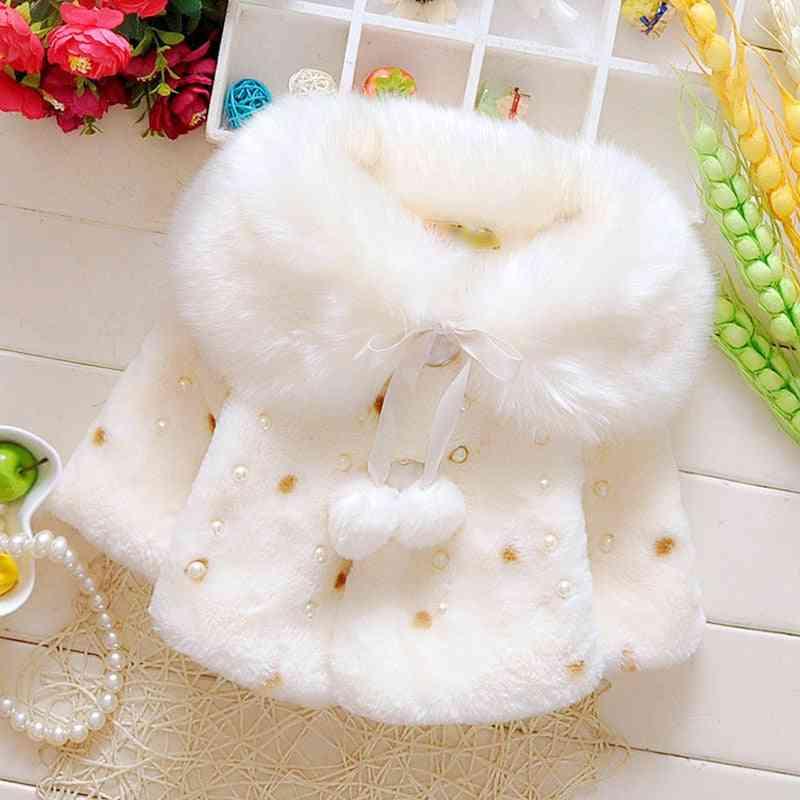 Baby Girl Winter Clothes, Cute Fleece Fur Coat
