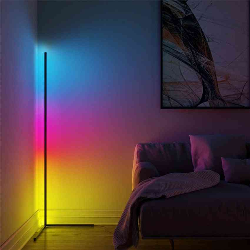 Nordic Remote Control Colorful Led, Floor Lamp