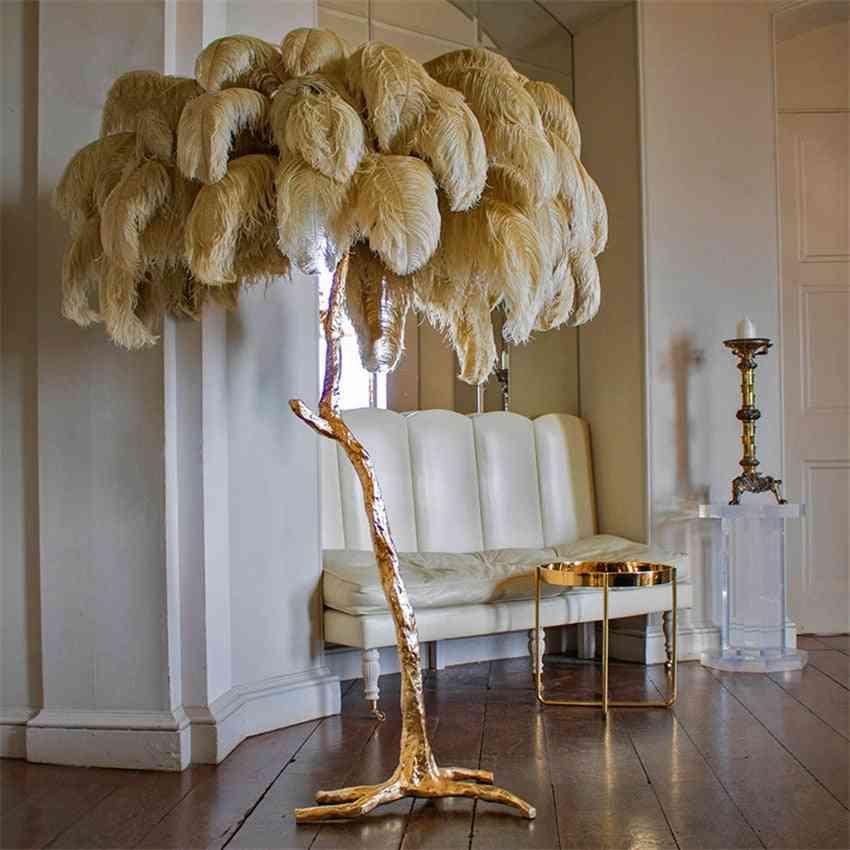 Modern Luxury Ostrich Feather Floor Lamp