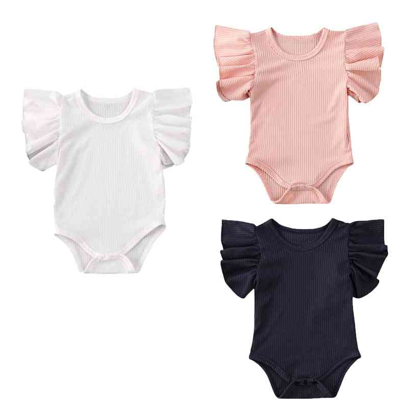 Newborn Baby Girl Cotton Jumpsuit / Bodysuit Short Sleeve Clothes Set