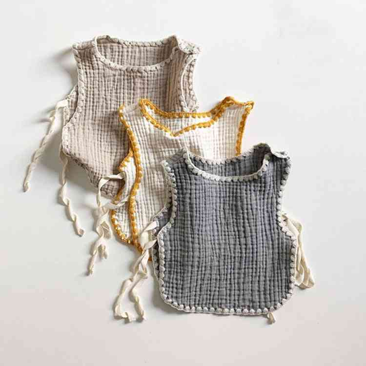 Newborn Baby Sleeveless T-shirts Tees, Cotton Undershirt Summer Windproof Vest