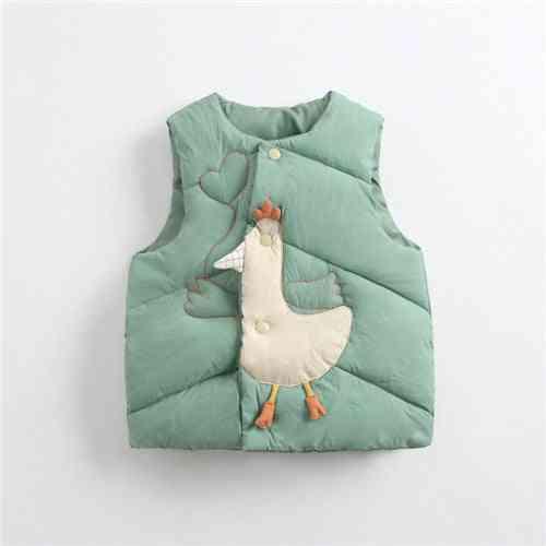 Cartoon Casual Sleeveless Vest Winter Waistcoat For Baby