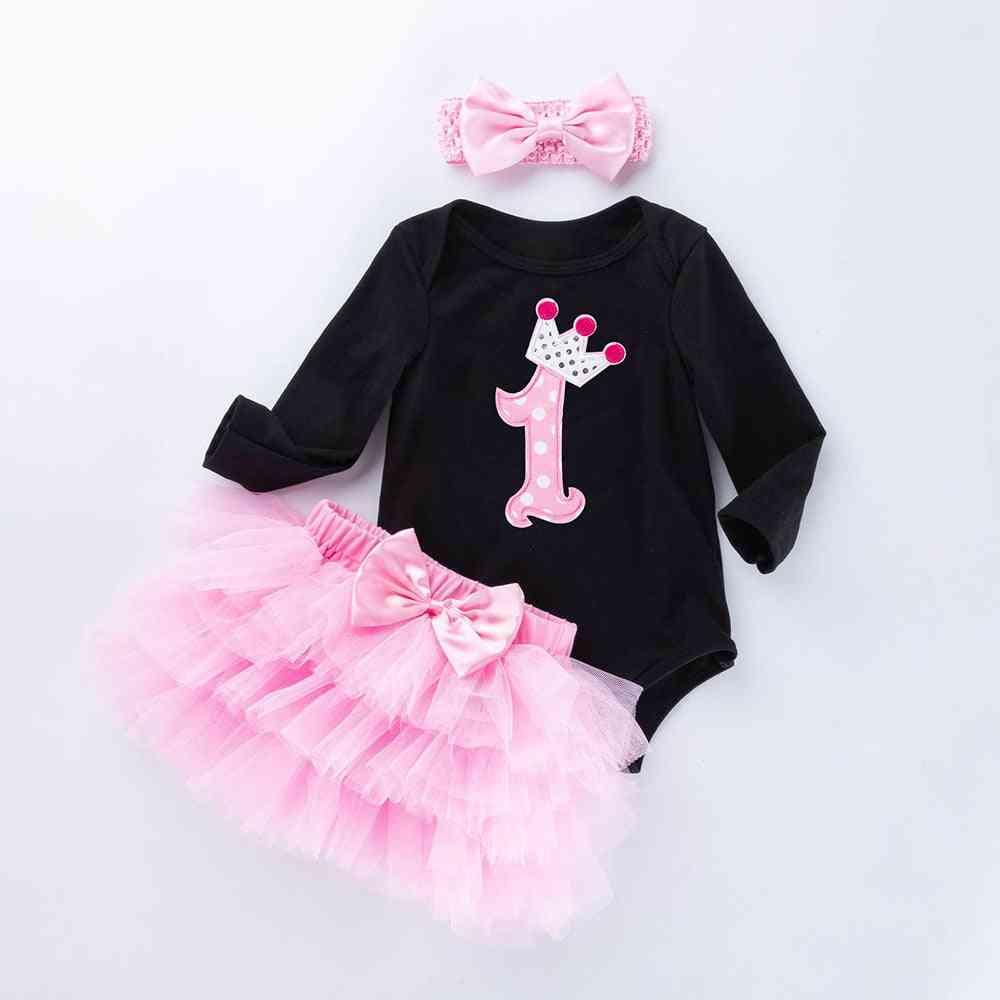 Baby Girl Black Bodysuit, Jumpsuits Pettiskirt Set