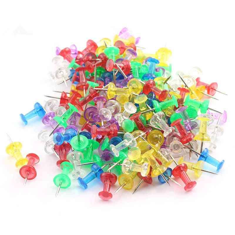 Thumbtacks, Board Push Pins With Plastic Box