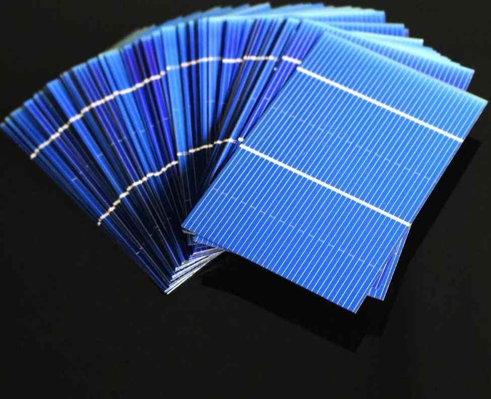 50pcs/lot Poly Crystalline Battery Charge-solar Cells Panel