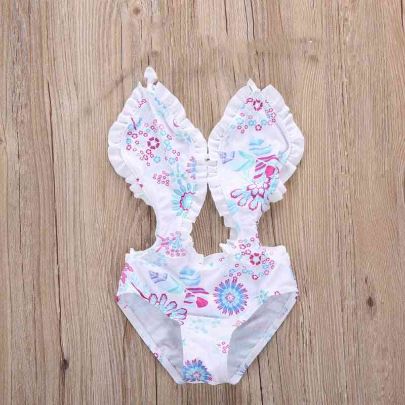 Girl Floral Tankini Split Swimwear Swimsuit, Costume Bathing Suit Summer Beachwear