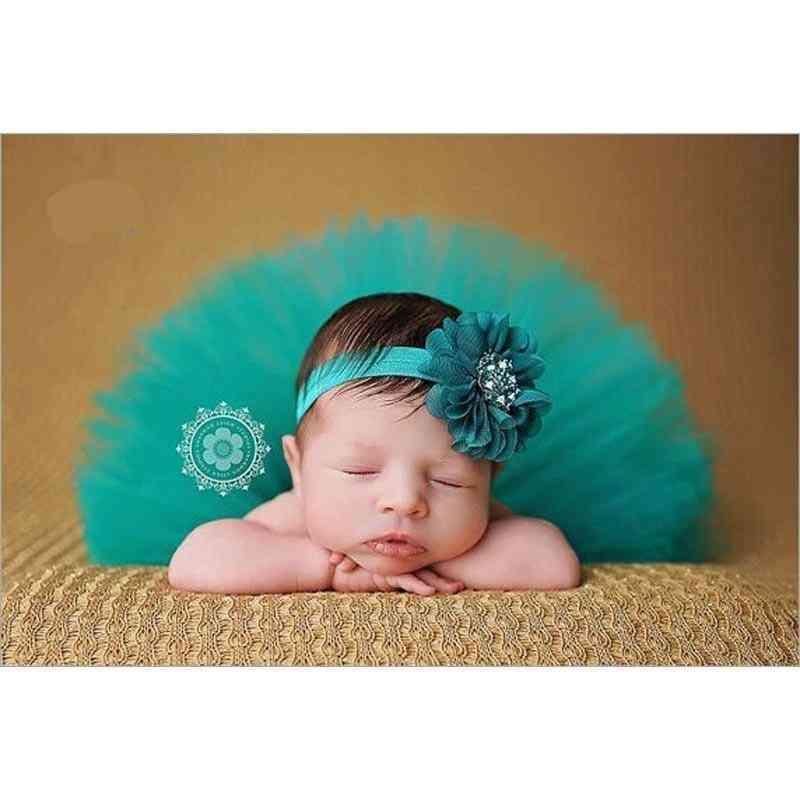Baby Girl Tutu Skirt And Flower Headband Photography Fluffy