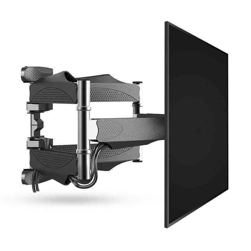 Full Motion Tv Wall Mount 6 Arms Retractable Swivel Tilt Tv Bracket Rack For 32-60