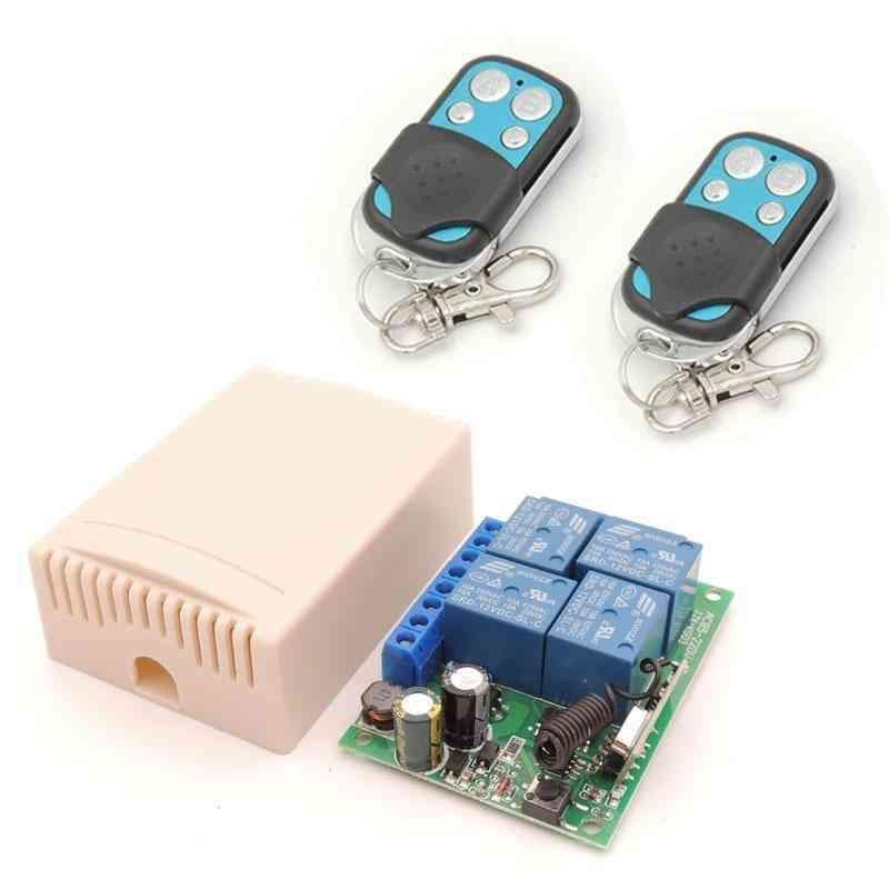 Ac 85v-220v, 10amp 2200w, 4ch 433mhz Rf Remote Control Switch Wireless Relay Receiver Controller