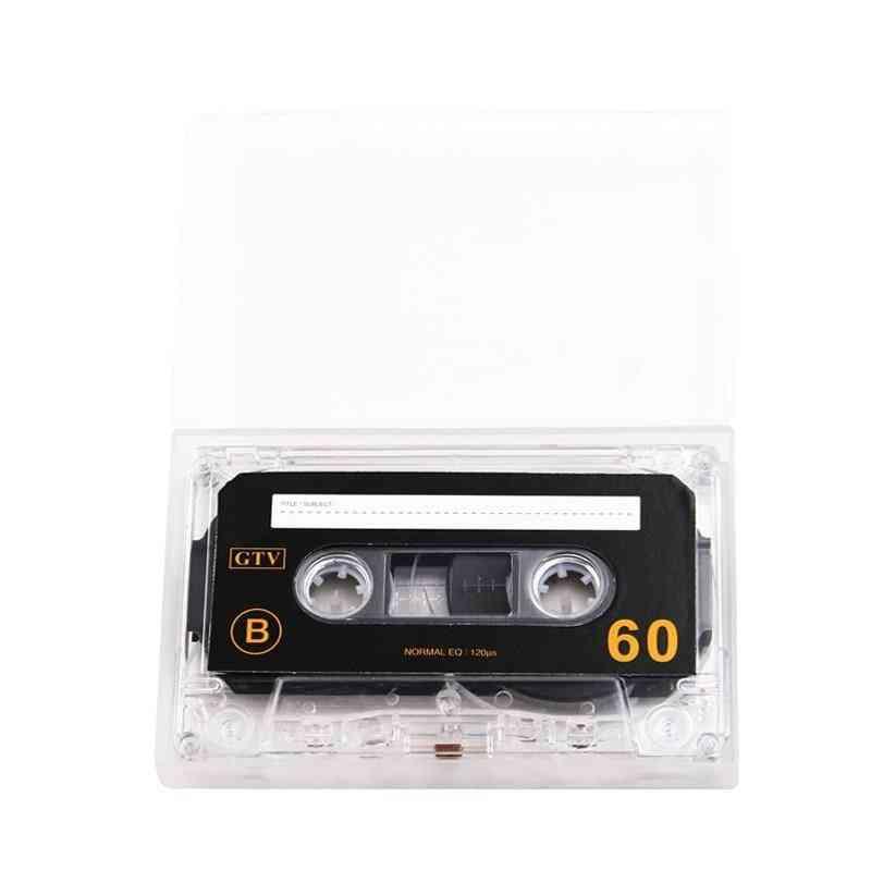 Standard Cassette Blank Tape, 60 Minutes Audio Recording