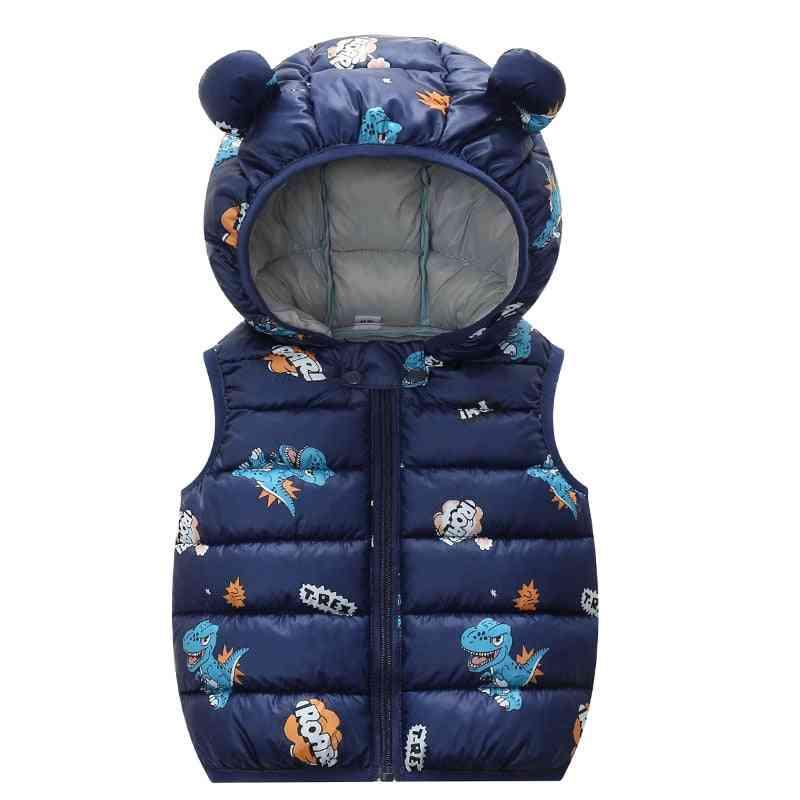 Children And Cotton Vest - 3 Velvet Coat, Sleeveless Jacket