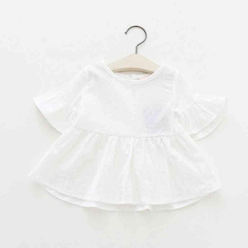 Summer Fashion Blouses, Lotus Leaf Short Sleeved Shirt Doll