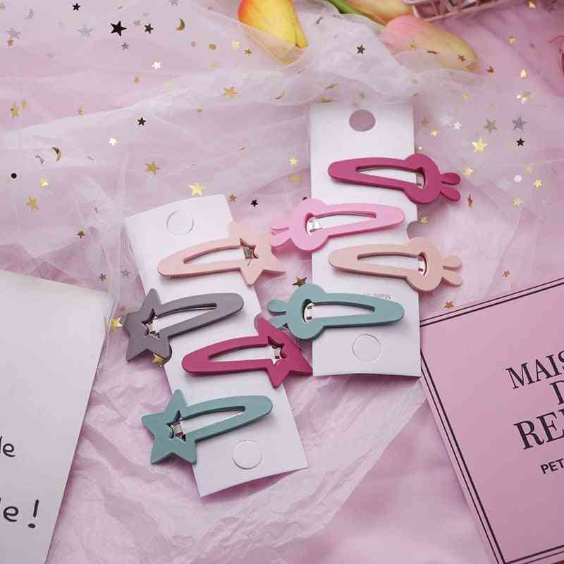 Lovely Star/rabbit/triangle Design Hairpins For