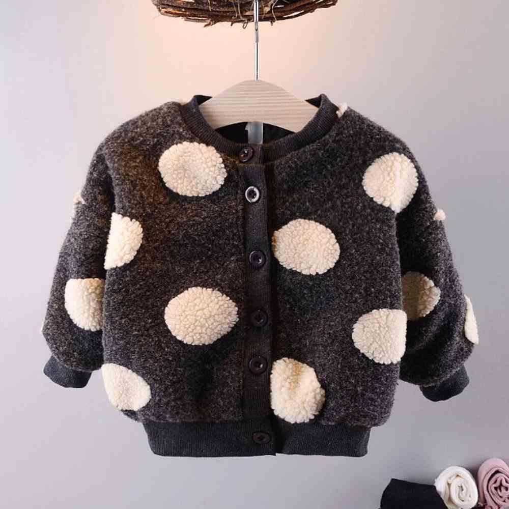 Newborn Baby Girl Winter Clothes, Long Sleeve Fleece Coat, Warm Jacket Infants Outerwear