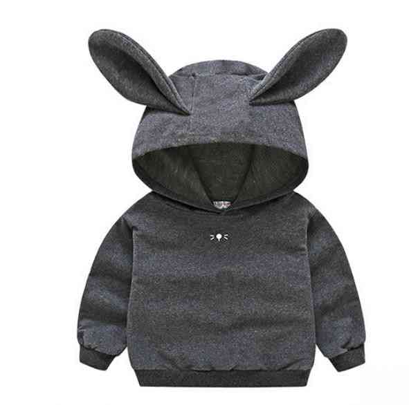 Newborn Infant Baby Girl Hooded Casual Jacket / Coat With Rabbit Ear
