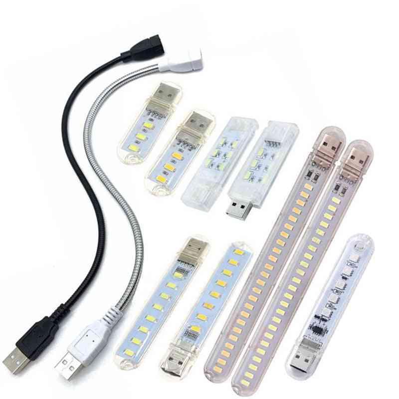 Dc 5v Mini Led Night Light -portable Usb Reading Table Lamp