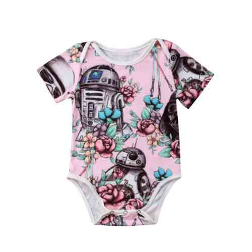 Summer Cute Newborn Baby Girl Clothes Bodysuit Short Sleeve Cotton Outfits Clothes