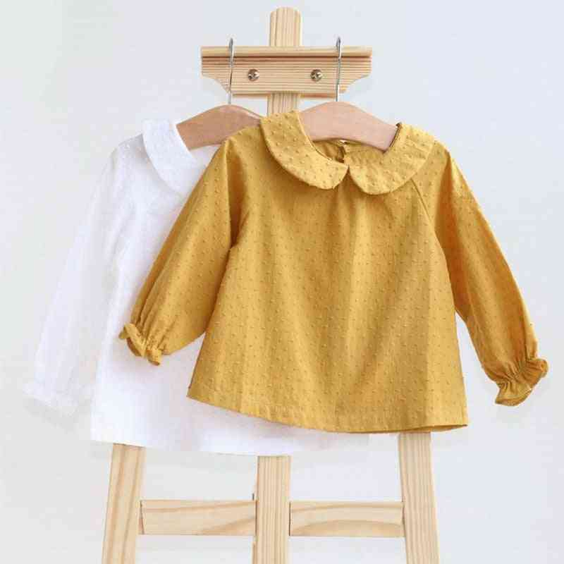 Baby Girl Shirts Top Cotton Long Sleeve Soft Newborn Buttons Clothes