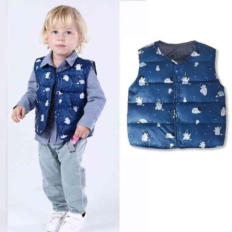 Kids Baby Vest, Jacket- Newborn  Waistcoat Warm Cotton Clothes