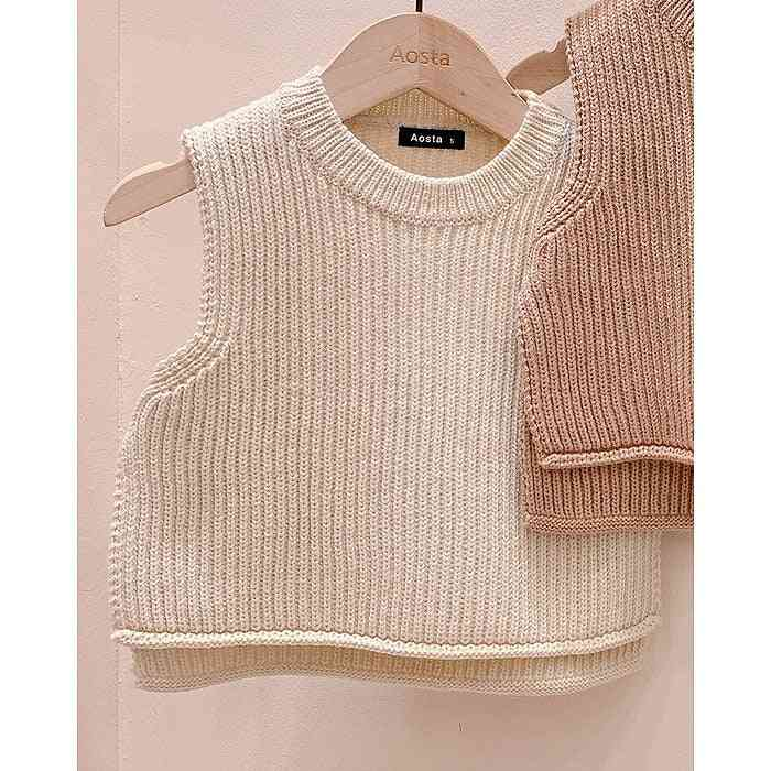 Kids Sweater Vest, Clothing Casual O-neck Child Tops Waistcoat