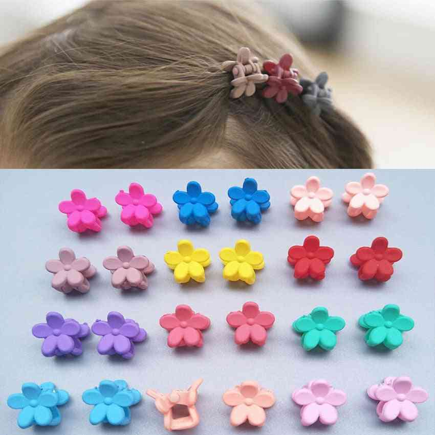 Cute Candy/flower/mickey Mouse/star Shape, Small Claw Hair Clips For Kids