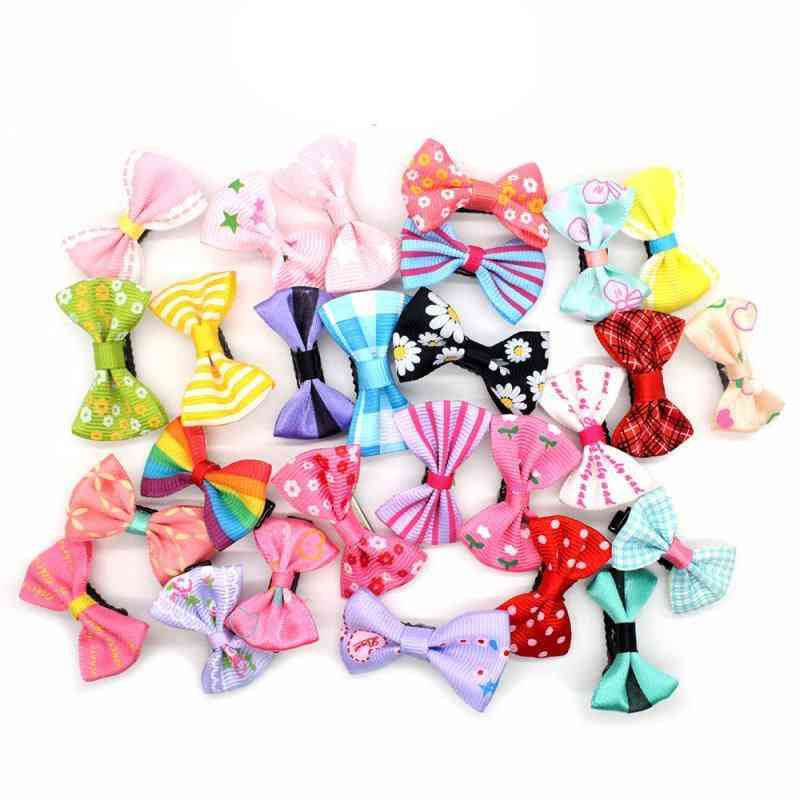 Durable And Colorful, Small Claw With Ribbon Bow Design-hair Pins For