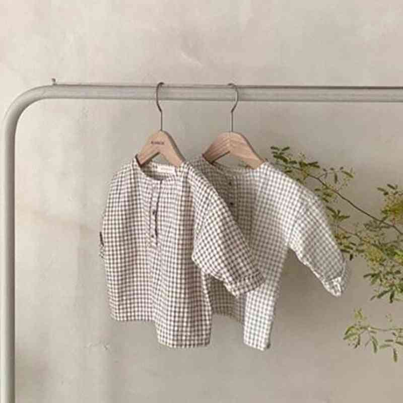 Baby Clothes, Casual Boys Shirts Plaid Infant Blouse