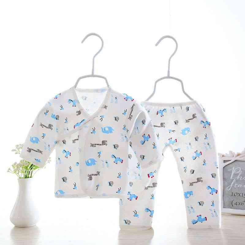 2pcs Newborn Baby Boy Clothes, Infant Clothing Set- From Cotton
