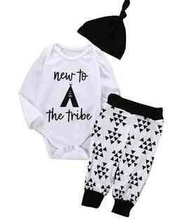 Baby Clothing,  Newborn Girl Floral Jumpsuit Romper, Black Rose Pants