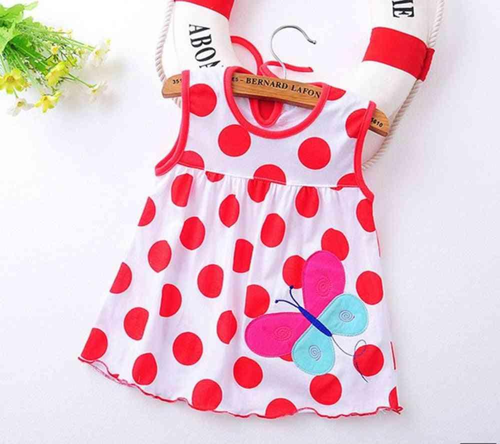 Flower Printed, A-line Lovely Sleeveless Summer Dress For