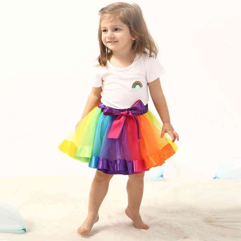 Skirt Baby Rainbow Tulle, Ball Gown Clothes, Christmas Outfit