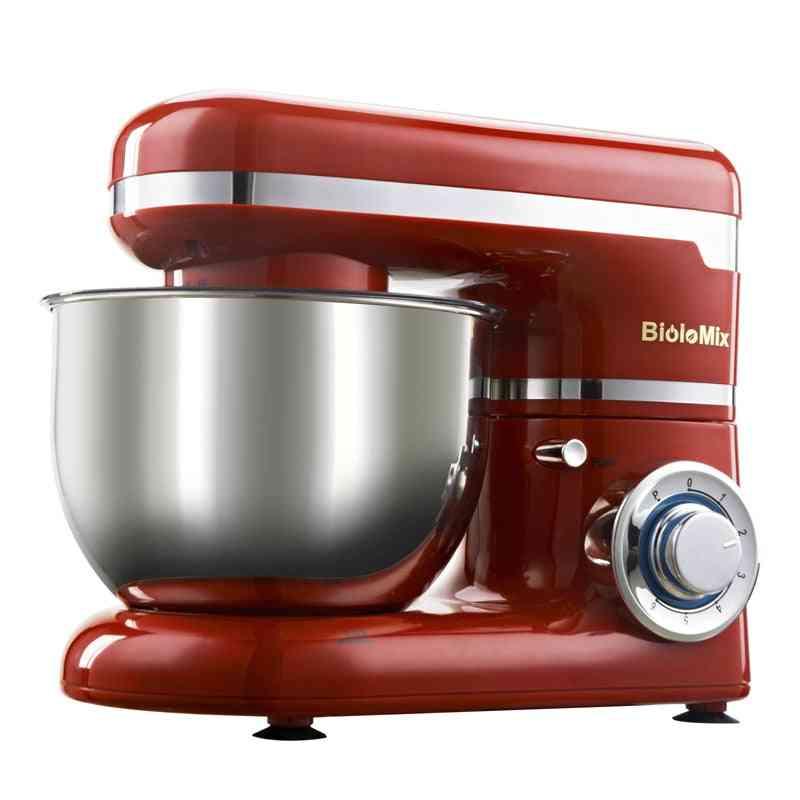 1200w 4l Stainless Steel Bowl Egg Whisk Blender Cake Dough Bread Mixer Maker Machine