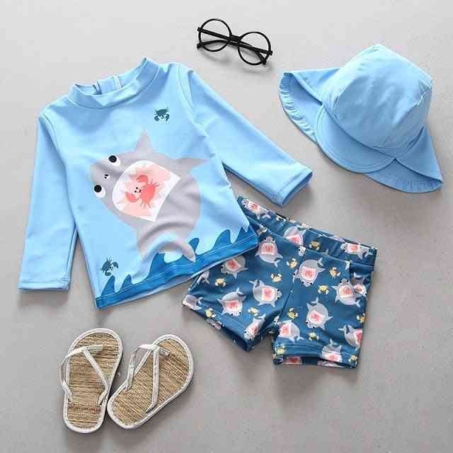 Children Long Sleeve Swimsuit & Sun Uv Protection Baby Bathing Clothes