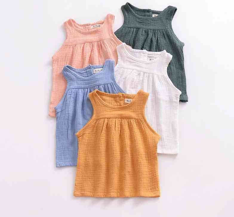 Summer Sleeveless Cotton T-shirts For Baby