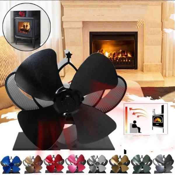 Mini Stove, 4 Blade Fireplace Fan